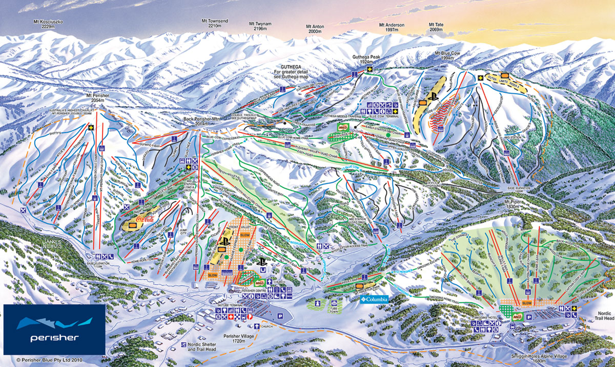 Perisher Trail Map
