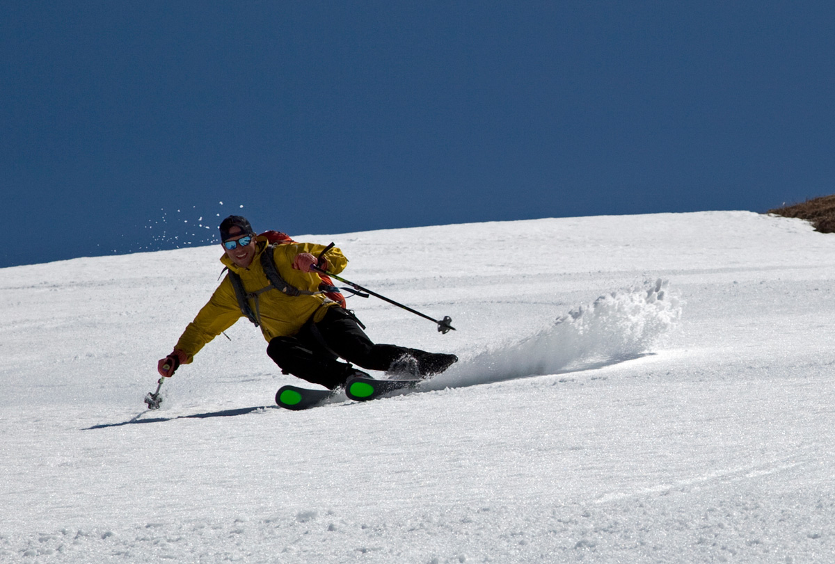 Chris Davenport Skis Corn on Mount Baker