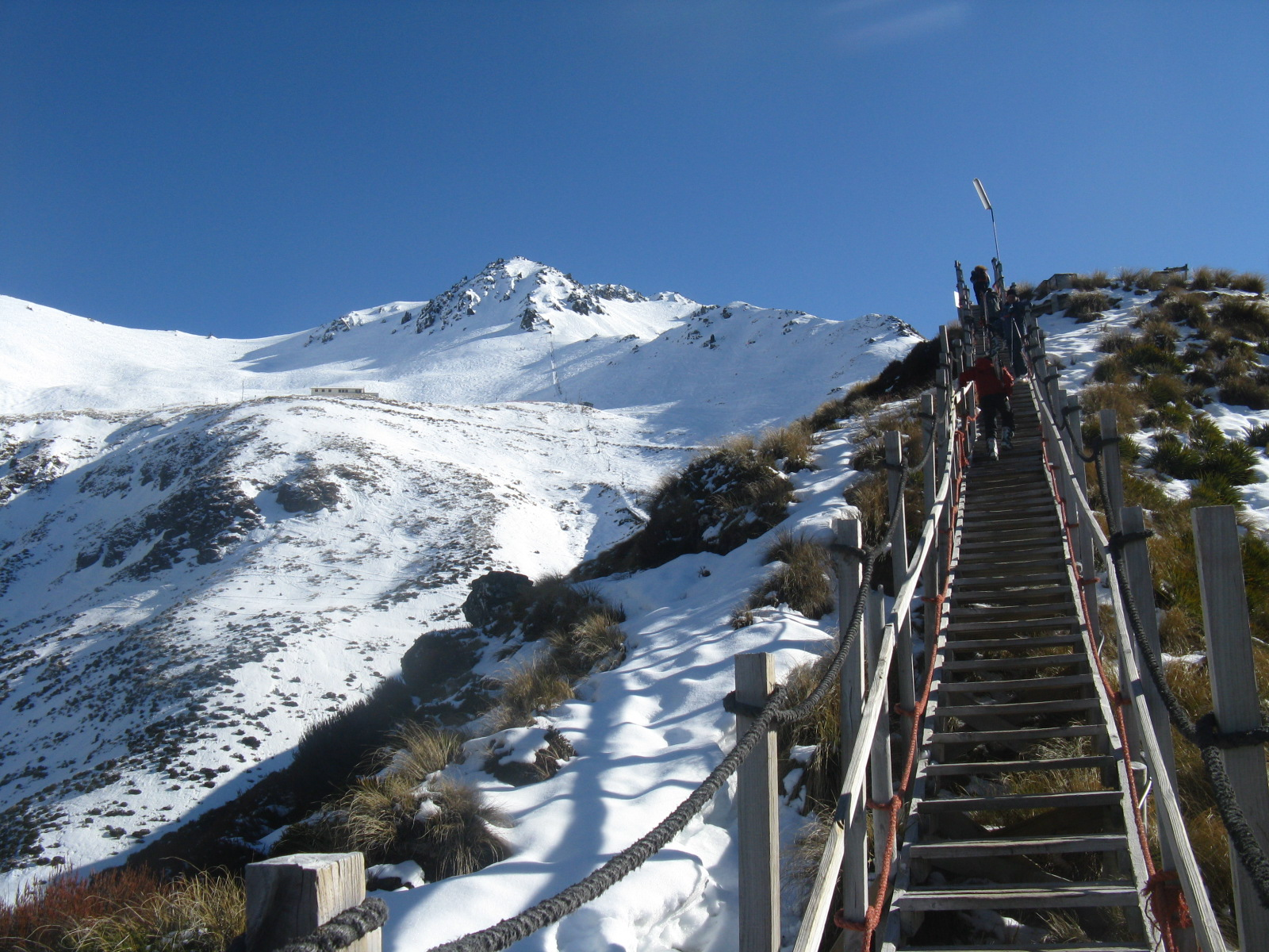 The Stairway To Heaven at Broken River Ski Club in New Zealand