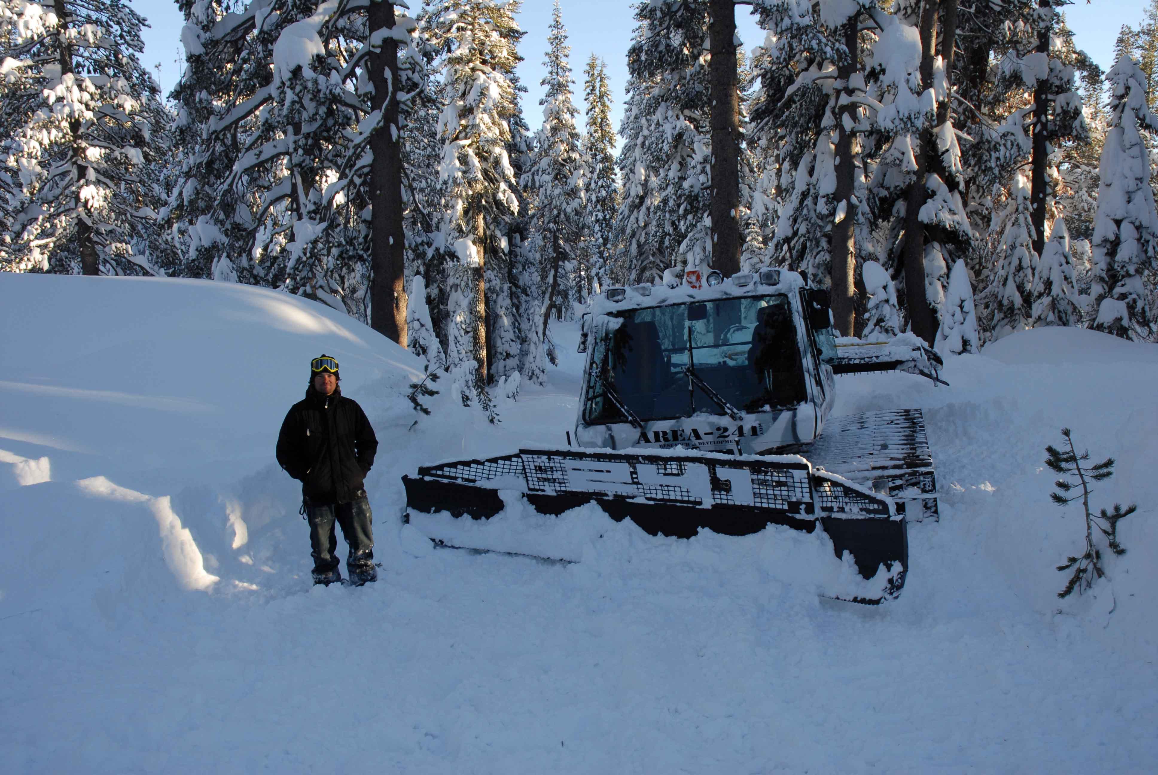 Mike Basich snowcat