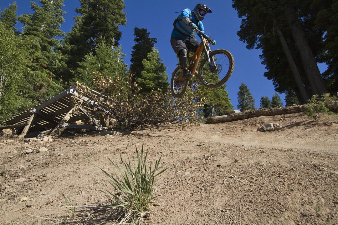 Mountain biking at Northstar Tahoe sick