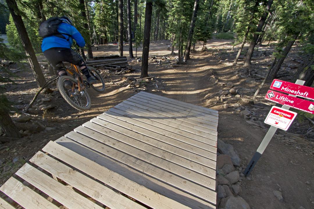 Mountain bike park at Northstar Tahoe