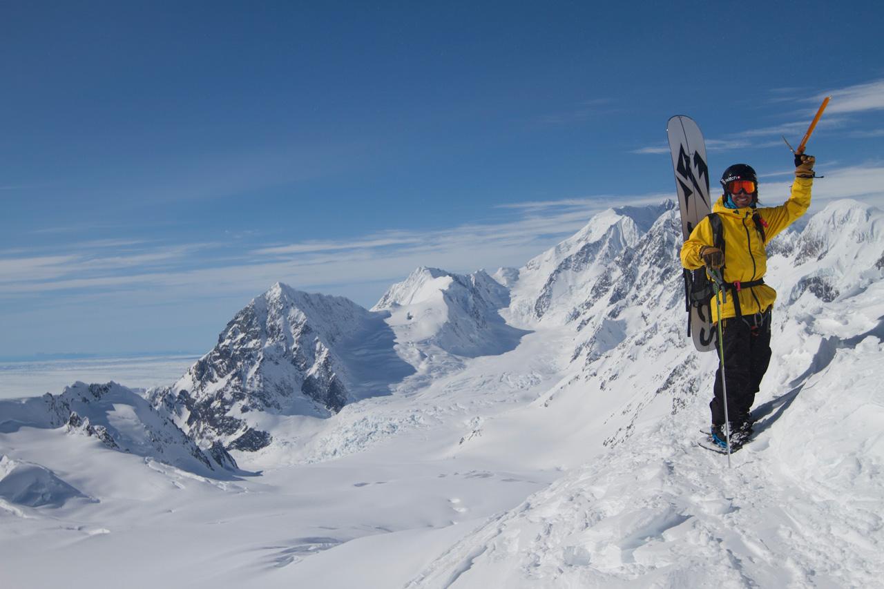 Jeremy Jones in Wrangell St. Elias National Park in Alaska