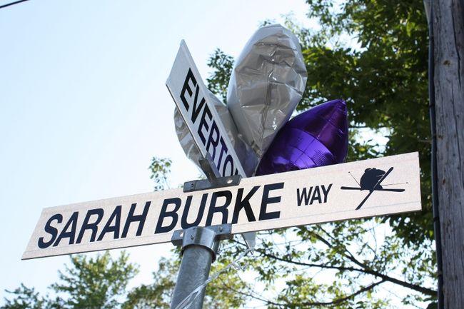 Sarah Burke Street Sign