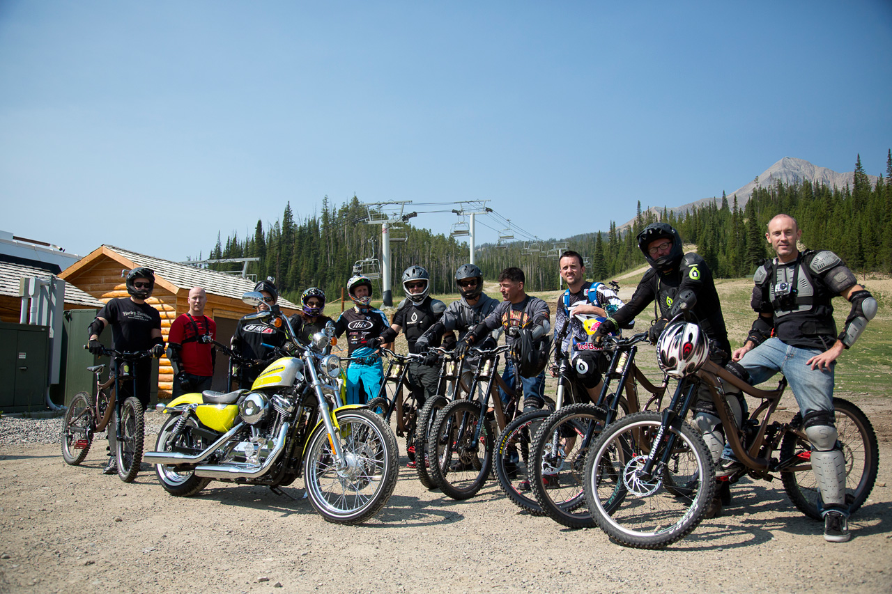 Trading our Harleys for downhill mountain bikes at Big Sky