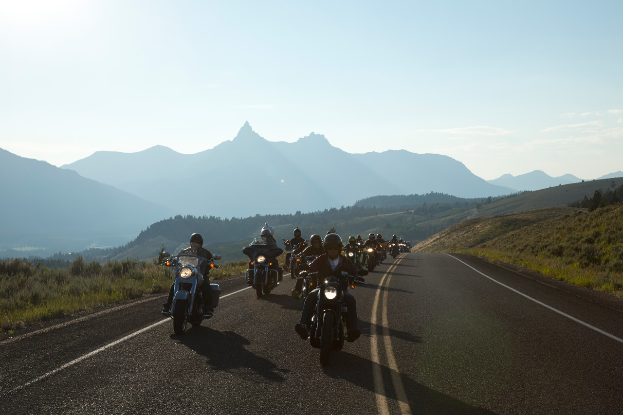 Riding out of Cooke City, Montana