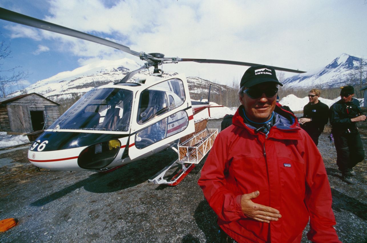 Theo Meiners on the heli pad