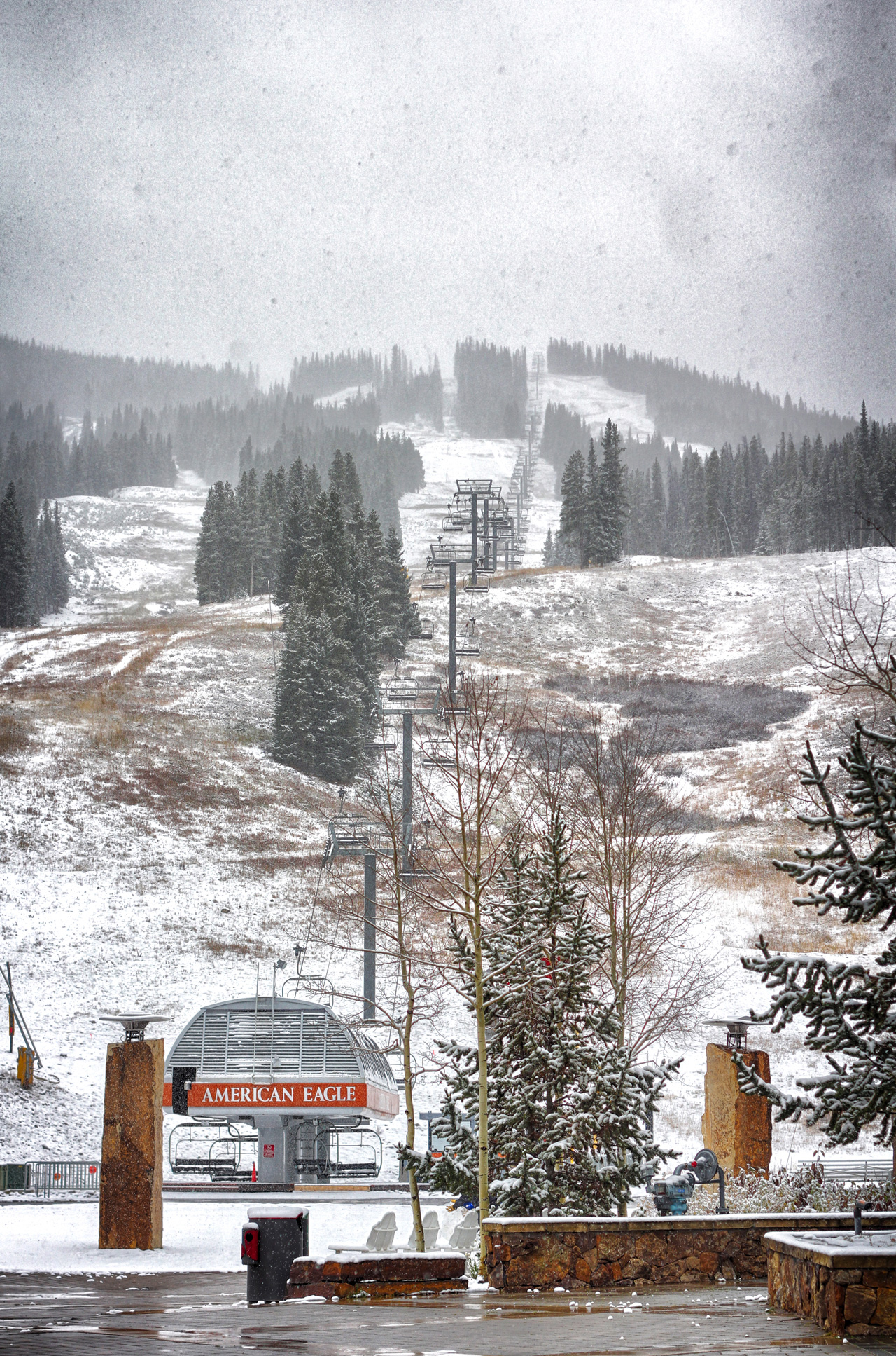 Dusting of Snow at Copper Mountain October 13, 2012
