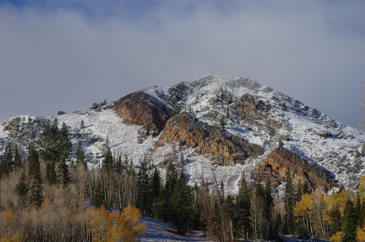 Snow at Park City Mountain Resort early season