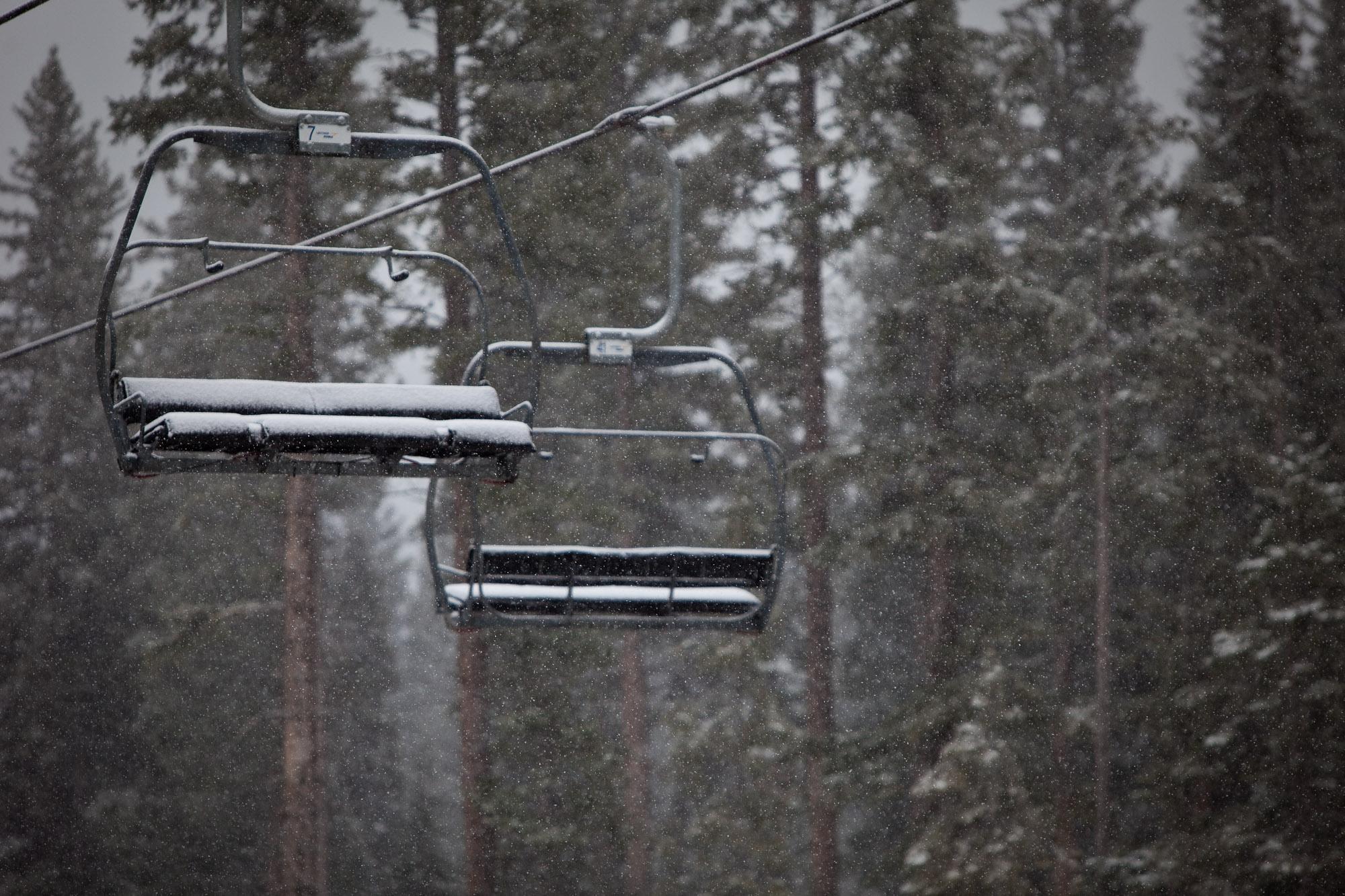 Snow at Aspen on October 13, 2012