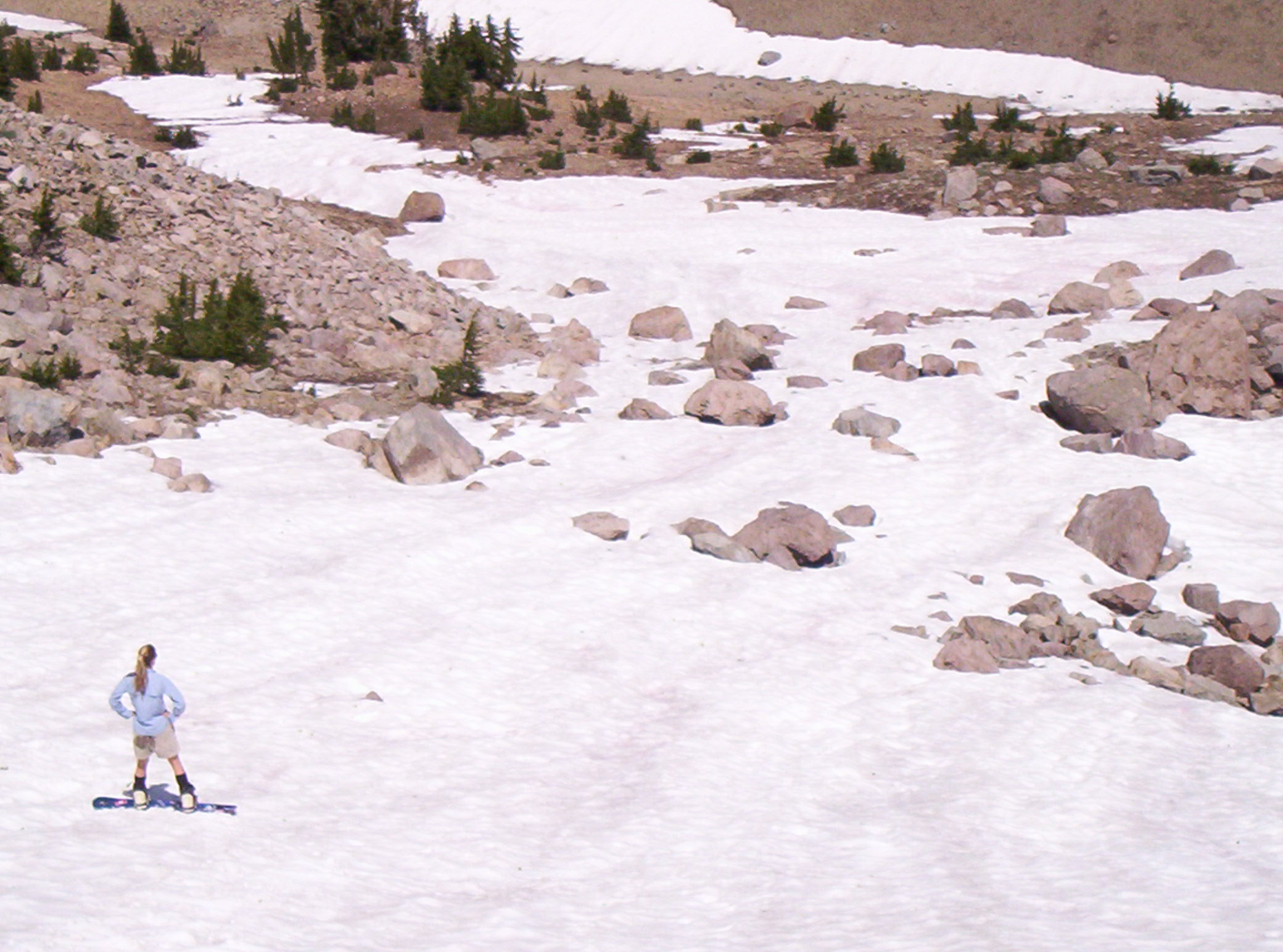Late season skiing, August 2005