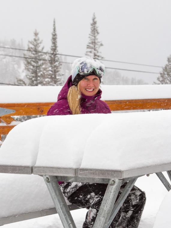 Snowbird's Emily Moench on October 25, 2012