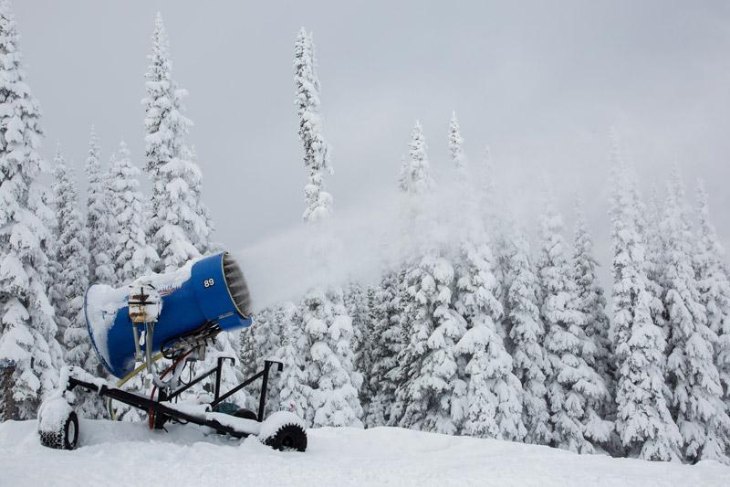 Making snow at Whistler october 26 2012