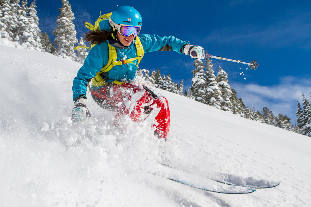 Carolyn Swertka skis just one more lap by Jim Harris