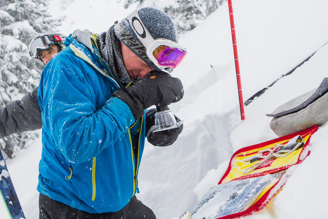 Snowbird patroller Brian Mueller. By Jim Harris