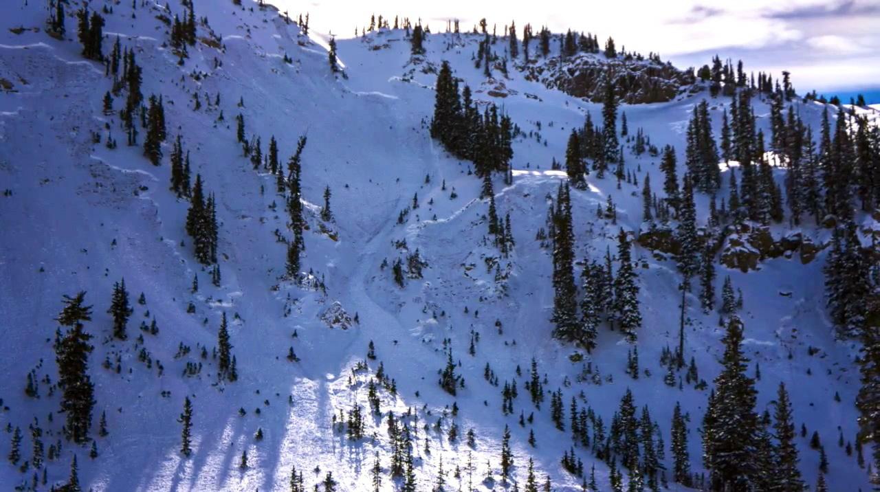 Sunset Peak Slide in November, By Bruce Tremper