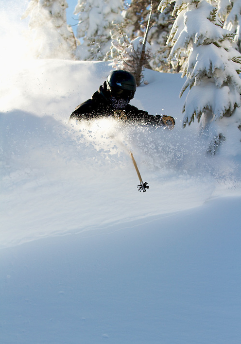 Slashing Powder at Mt. Rose