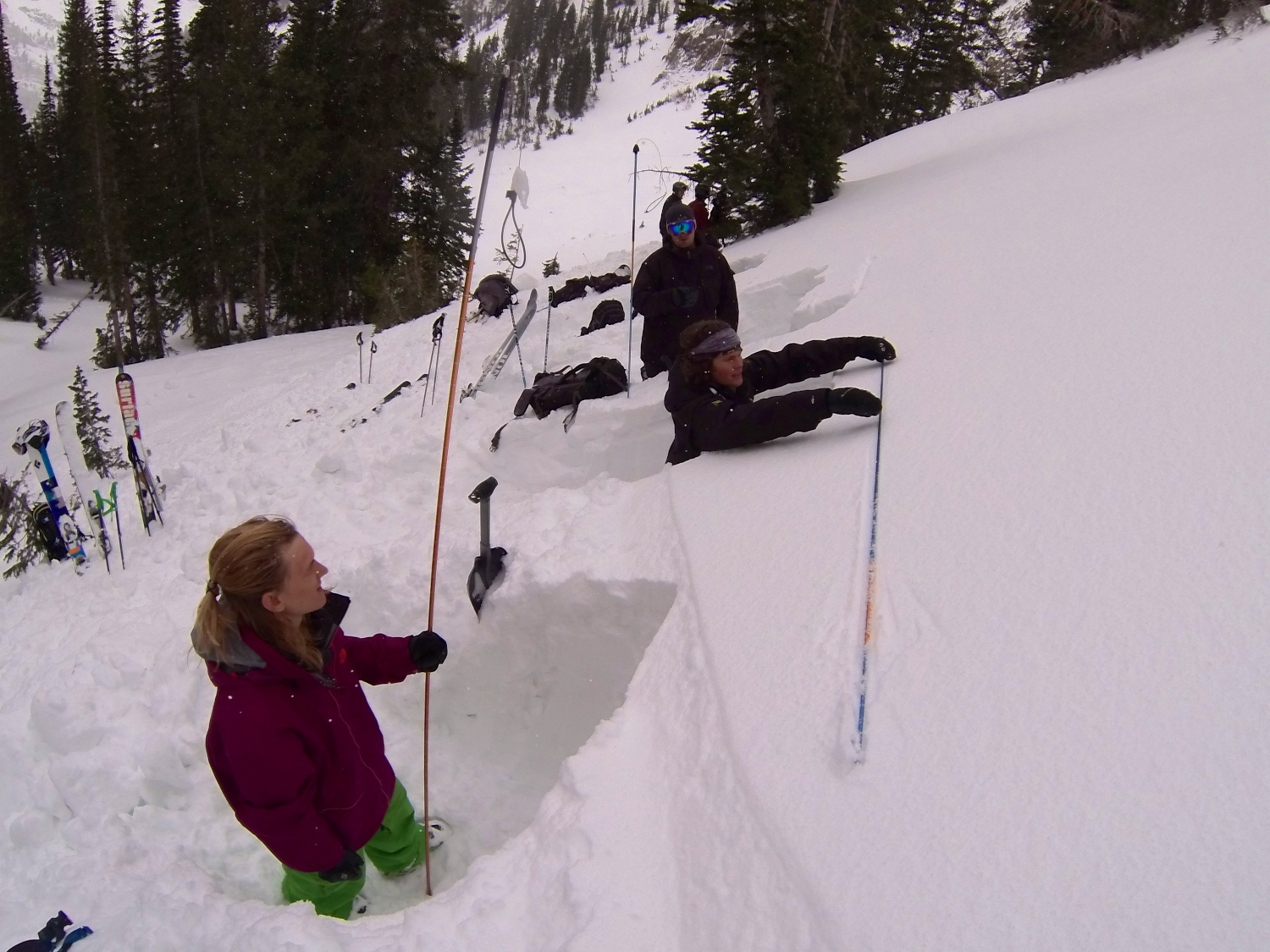 Digging Snowpits at IPRW