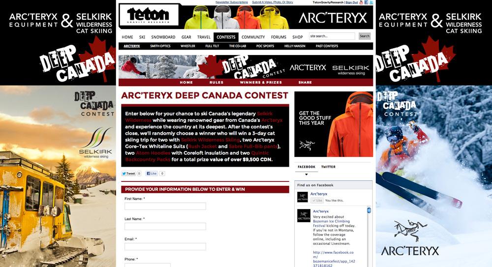 Arc'teryx Deep Canada Contest