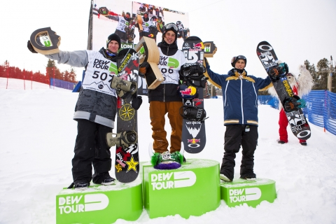 Slopestyle Mens podium breckenridge