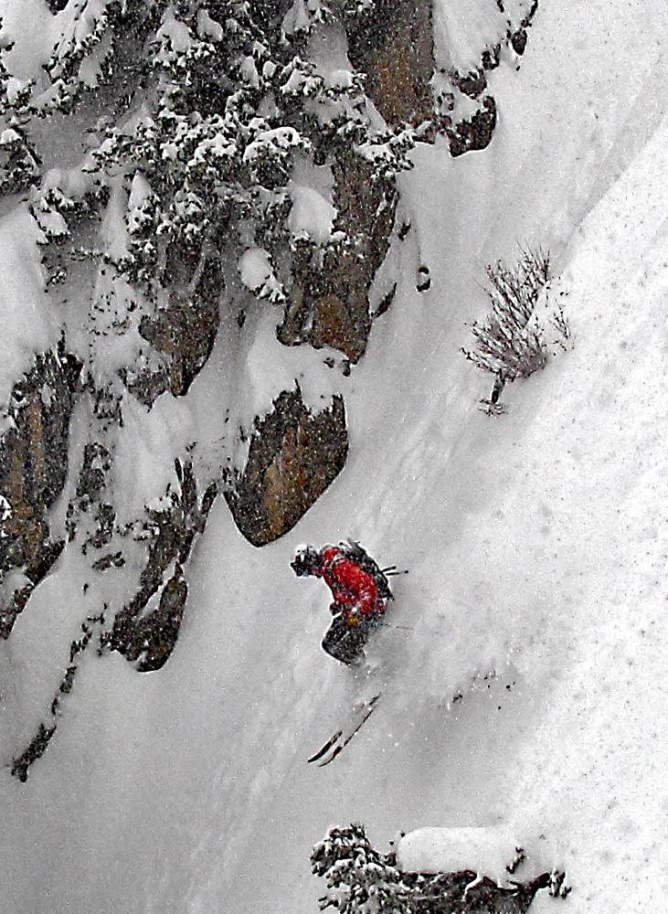 Vinnie Urgo, 2 inches an hour on the ridge. Photo:Patrick Clayton