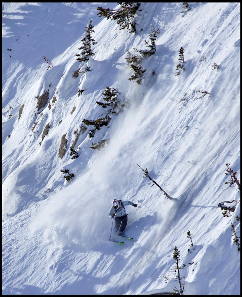 Shane Cottom The ridge, Bridger Bowl, Photo:Patrick Clayton
