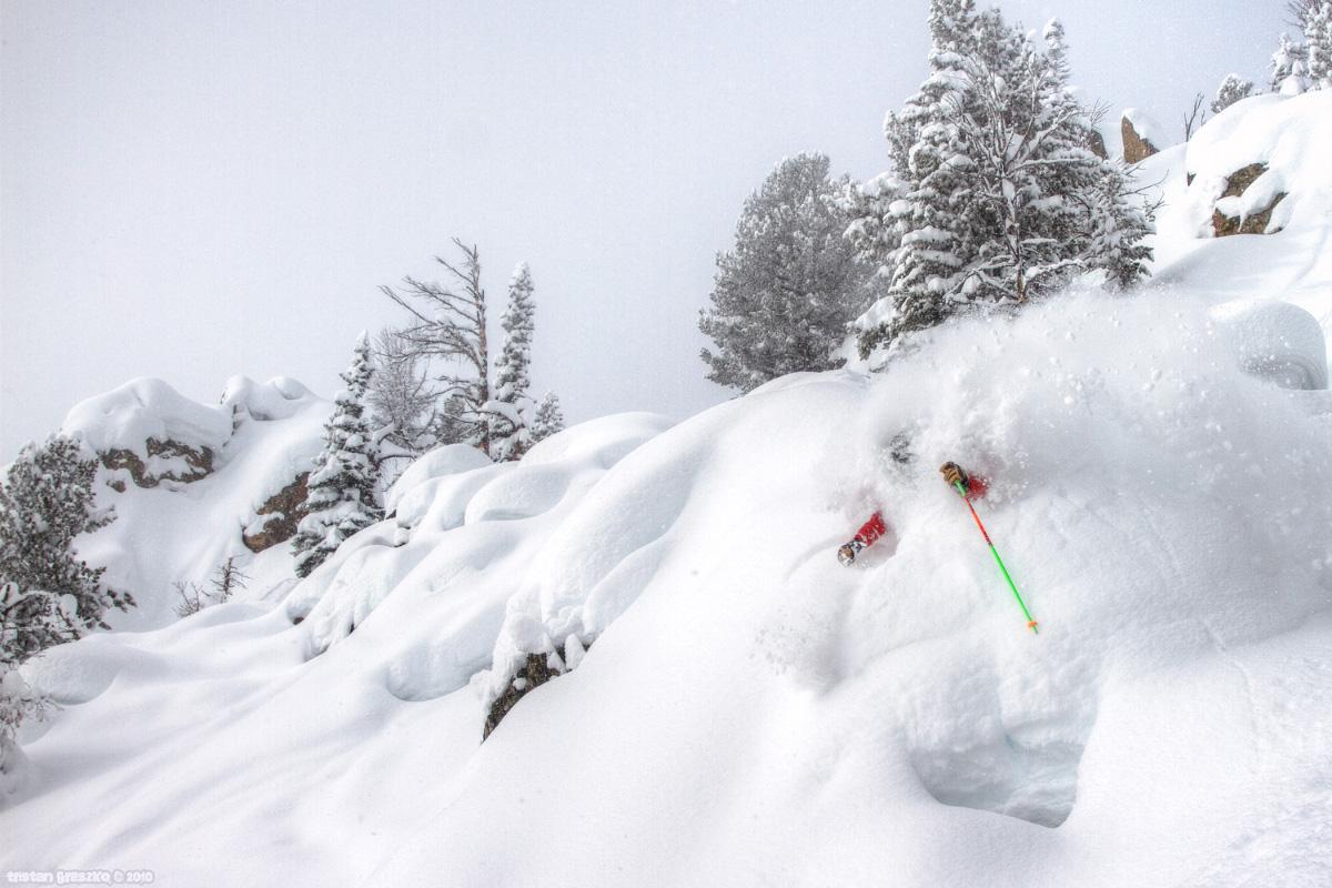 Killer Face Shots in Jackson Hole by Tristan Greszko