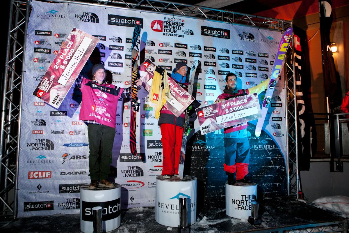 Mens ski podium FWT by R.SIHLIS