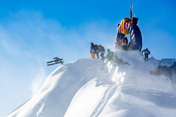 Bed Bull Linecatcher skier Photo by Jeremy Bernard