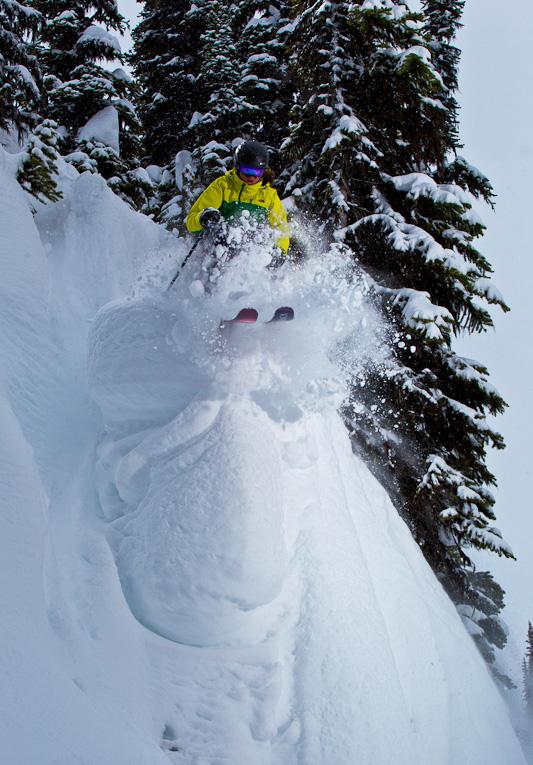 Leah Evans Skiing In Revelstoke Photo by Grant Gunderson