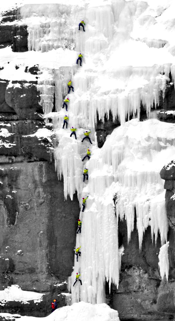 Chris Bangs, Human Powered Mountaineers, Cleo's Hyalite Canyon, Photo: Patrick Clayton