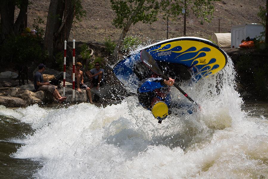 Stephen Wright Kayaking in Salida by TJ David
