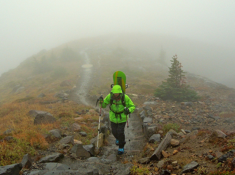 October Turns in a storm on Mount Rainier