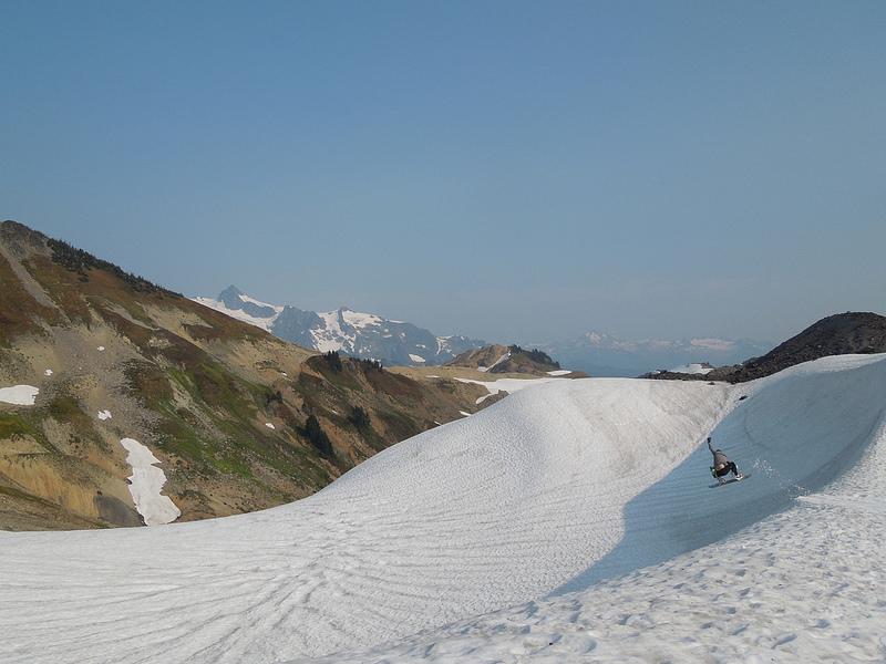 Sholes Glacier Kicker Session