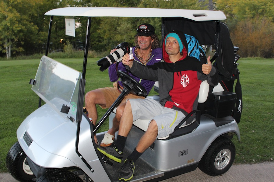 Dana Flahr and GDV do golf
