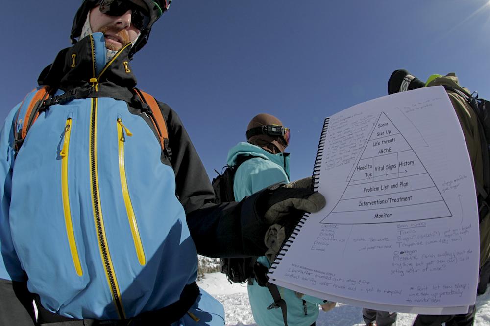 Ian McIntosh with rescue checklist.jpg