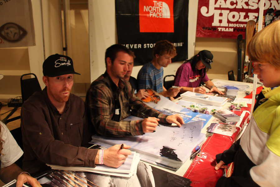 Athletes signing at TGR World Premiere