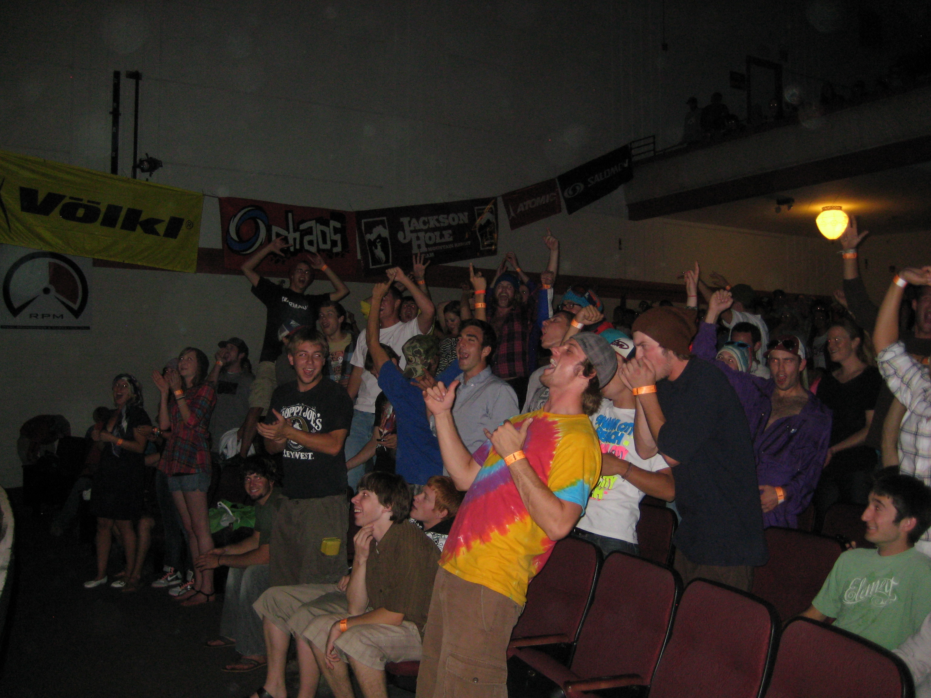 Cheering crowd, Bozeman Premiere of Re:Session