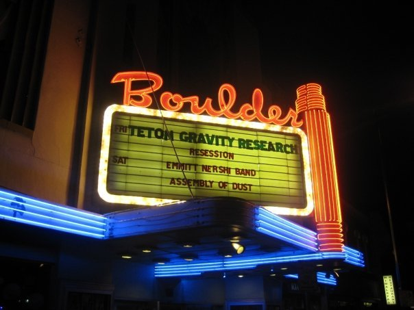 Marquee at Boulder Theater
