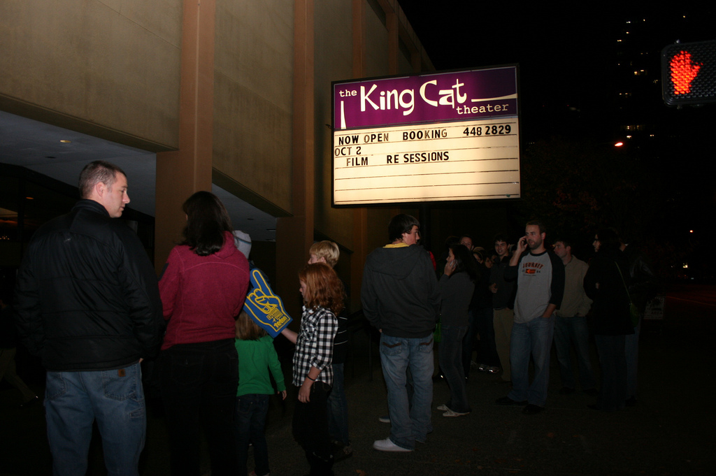 Outside the King Cat Theater