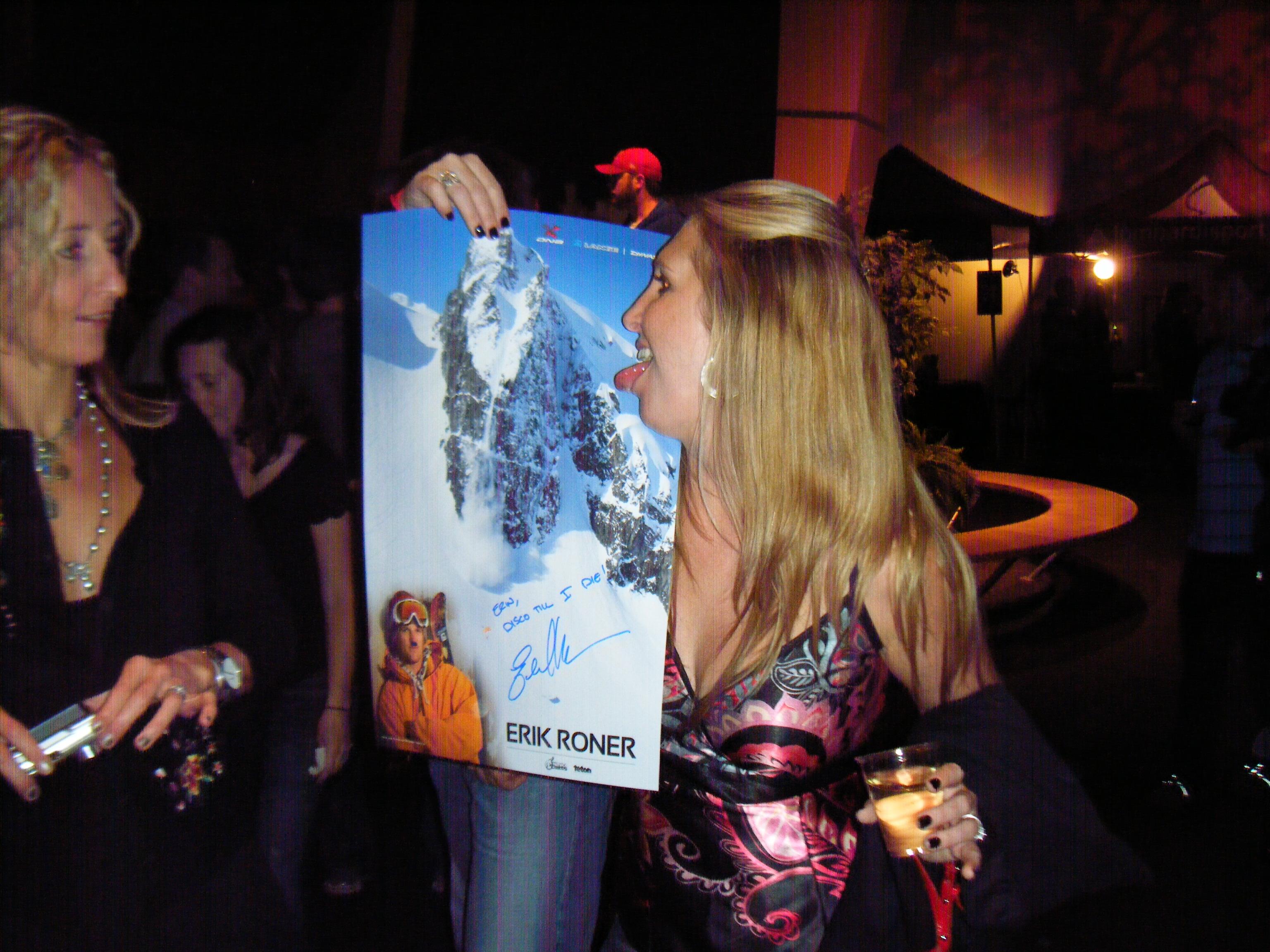Licking A Poster Of Erik Roner