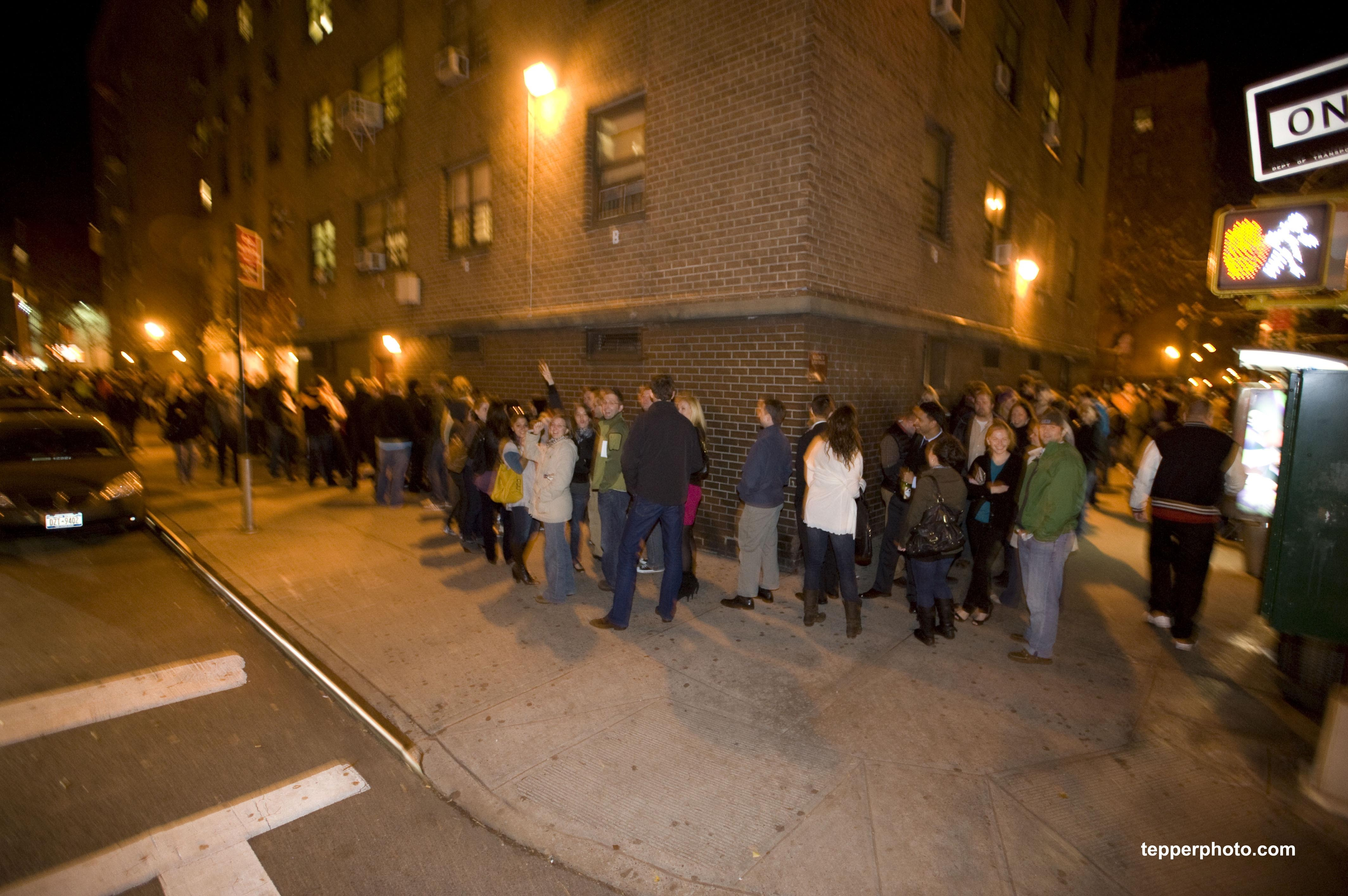 The line went for hundreds of feet down to the corner of 9th Ave!