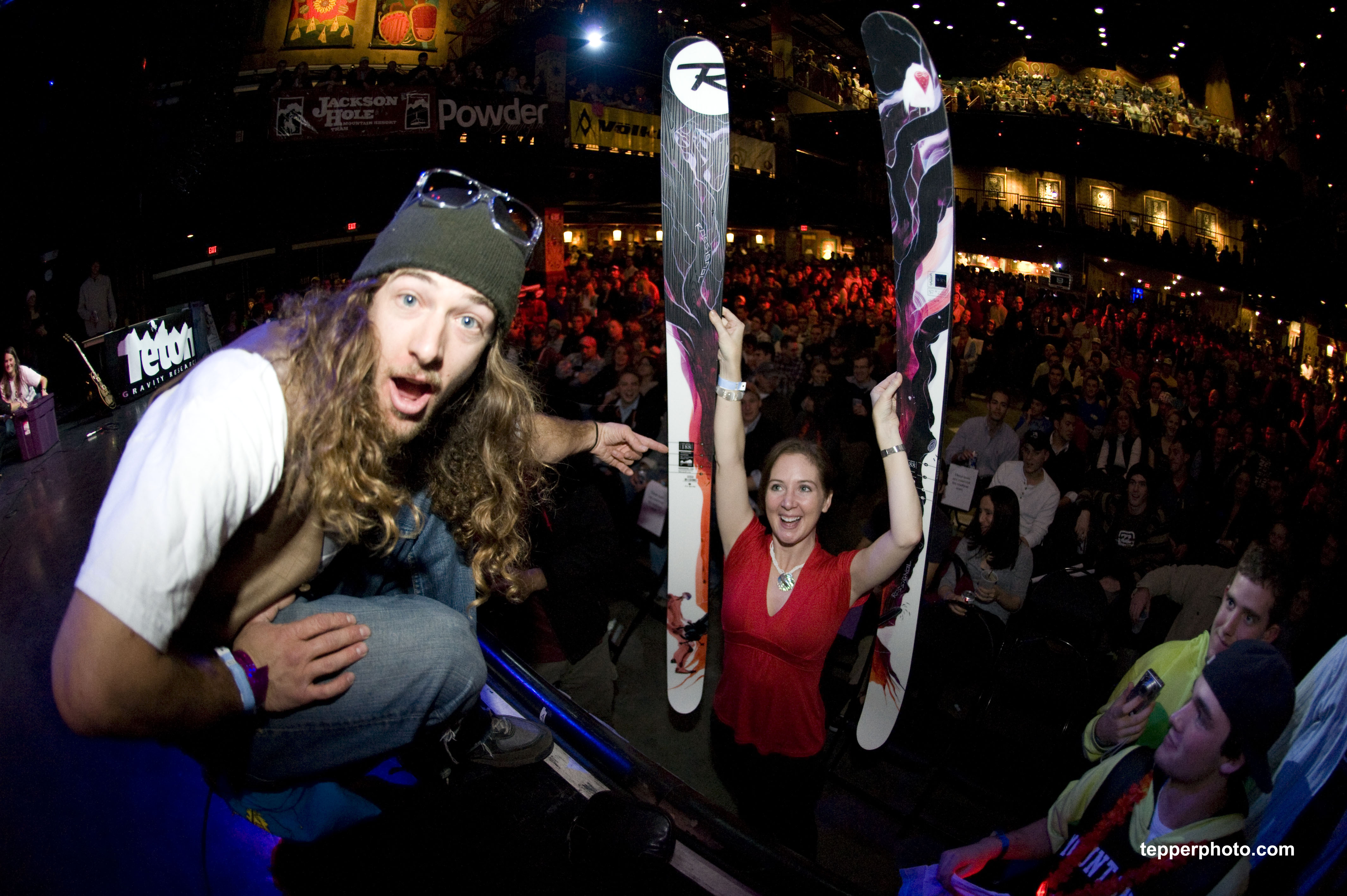 Sage Cattabriga-Alosa gives a stoked girl some fresh boards