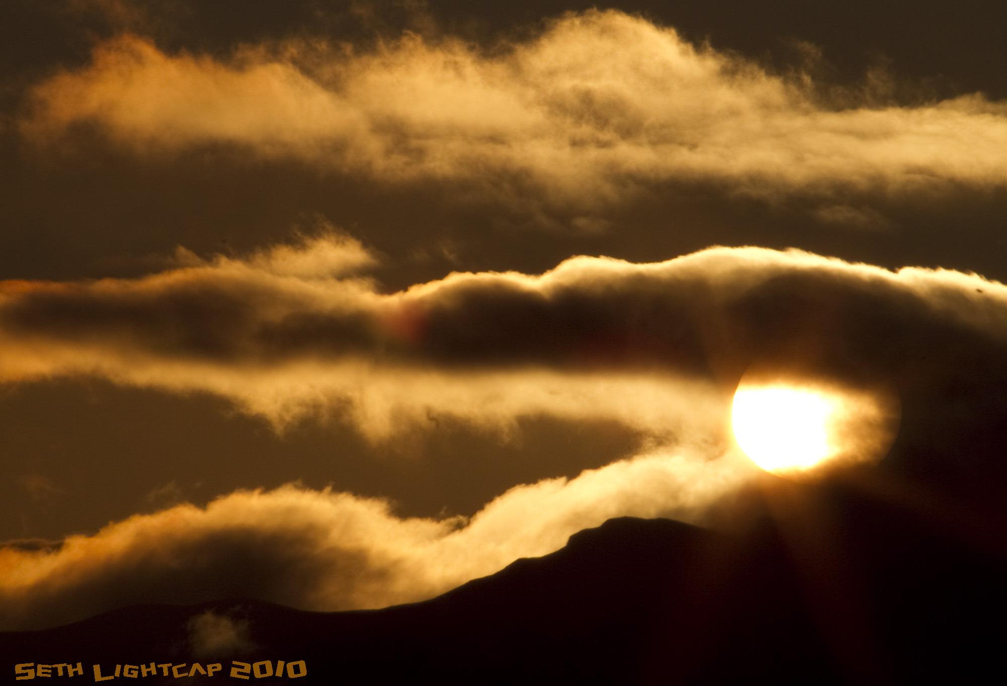 April sunrise in AK