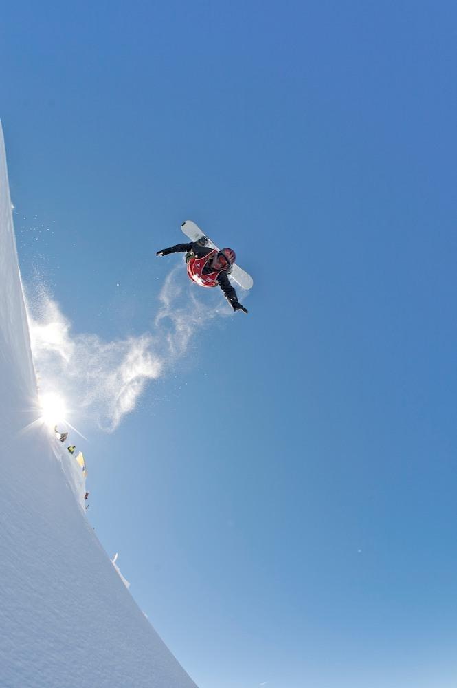 Inverted Snowboarder at World Heli Challenge 2010