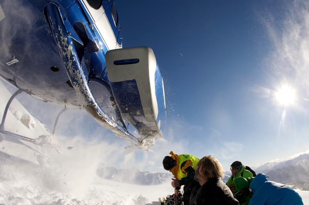 Heli Take Off at World Heli Challenge 2010