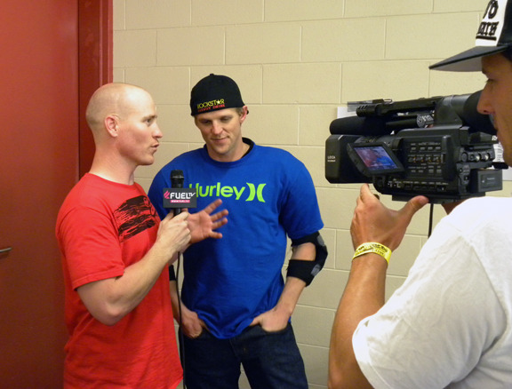 Interviewed by BMX legend Chad Kagy for Fuel TV.