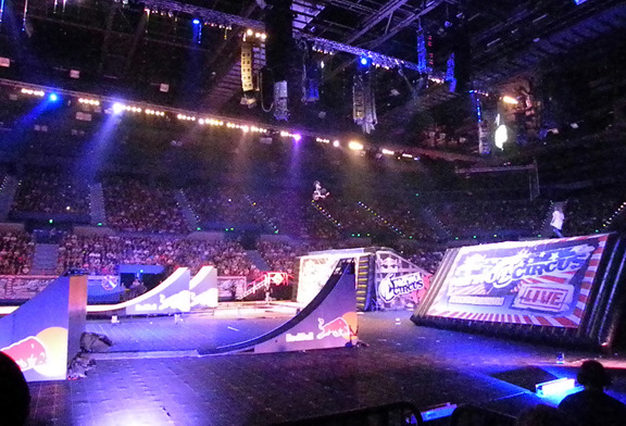 The Nitro set up in the Brisbane stadium