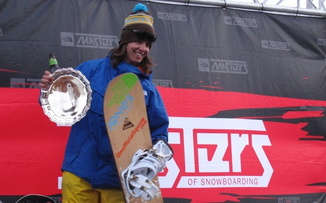 Jones team rider Ralph Backstrom walking away with second place overall in the 2010 North Face Masters of Snowboarding series.