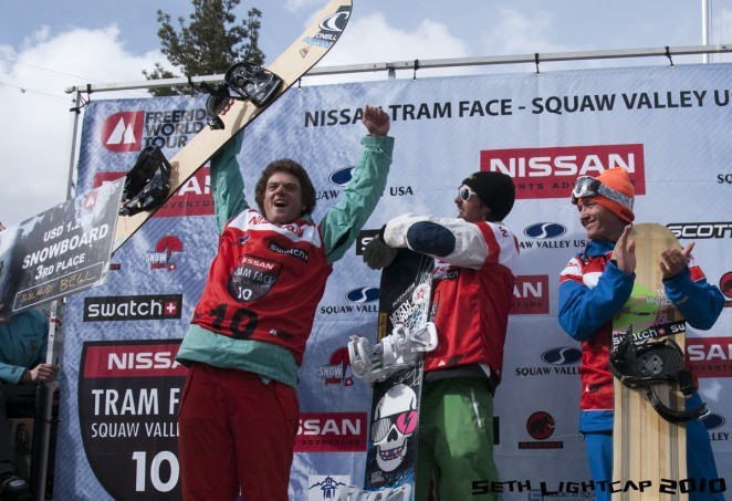 Ryland Bell taking home third place at the Squaw Valley stop of the Freeride World Tour in February